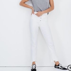 Madewell the perfect vintage crop jeans white 27